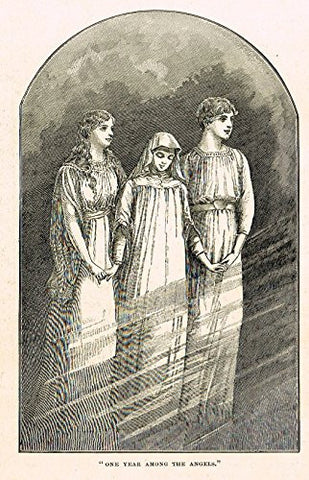"Buel's Beautiful Story - ""ONE YEAR AMONG THE ANGELS"" - Woodcut - 1887"