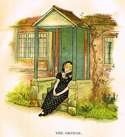 Kate Greenaway's Little Ann - THE ORPHAN - Chromolithograph - 1883
