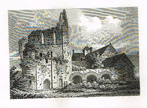 "Miniature Topographical Views - ""TWO UNIDENTIFIED CHURCHES"" - Copper Engraving - 1808"