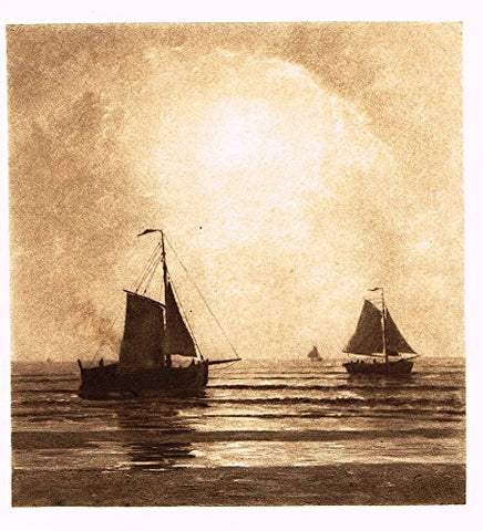 Salons of 1901's NOCTURNE ON THE NORTH SEA by A. STENGELIN - Photograveure - 1901