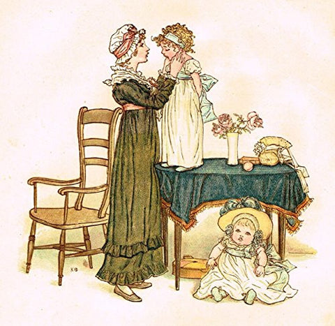 Kate Greenaway's Little Ann - FOR A NAUGHTY LITTLE GIRL - Chromolithograph - 1883