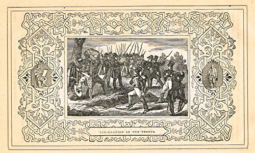 "Frost's 'The American Generals' - ""INDIGNATION OF THE TROOPS"" - Woodcut - 1848"