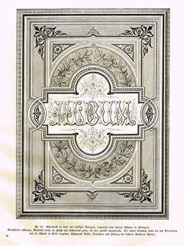 Baumer's 'Gewerbehalle'- FANCY ALBUM COVER - c1870