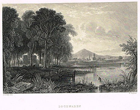 "Scotish Robert Burns Topographicals - ""LOCHMABEN"" - Steel Engraving - 1859"