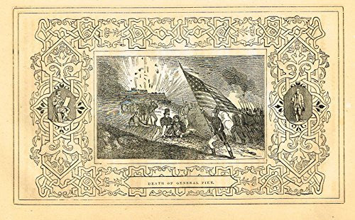 "Frost's 'The American Generals' - ""DEATH OF GENERAL PIKE"" - Woodcut - 1848"