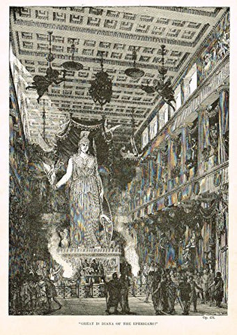 "Buel's Beautiful Story - ""GREAT IS DIANA OF THE EPHESIANS"" - Woodcut - 1887"