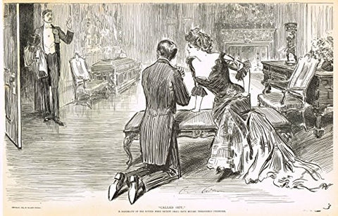 "The Gibson Book - ""CALLED OUT"" - Lithograph - 1907"
