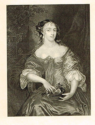 Memoires of the Court of England - ELIZABETH, LADY DENHAM - Photo-Etching - 1843