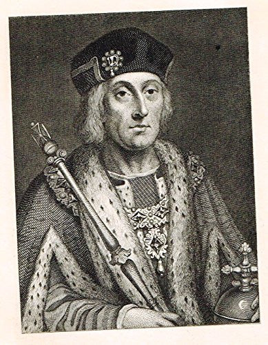 Memoires of the Court of England - HENRY VII - Photo-Etching - 1843