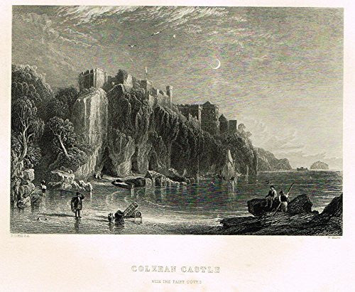 "Scotish Robert Burns Topographicals - ""COLZEAN CASTLE"" - Steel Engraving - 1861"
