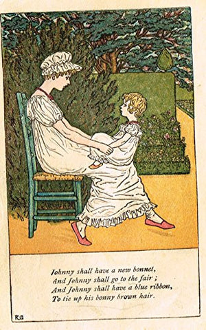 Greenaway's Mother Goose - LITTLE JACK HORNER - Chromolithograph - 1898
