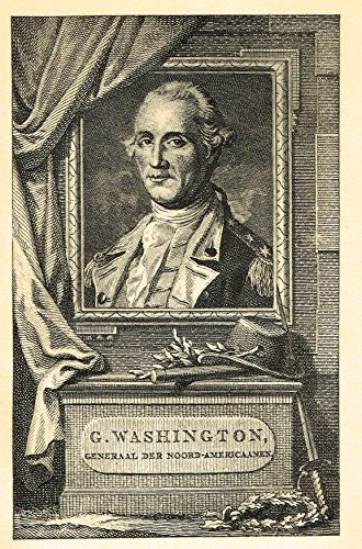 Memoires of the Court of England - GENERAL GEORGE WASHINGTON - Photo-Etching - 1843