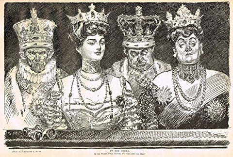 "The Gibson Book - ""AT THE OPERA"" - Lithograph - 1907"