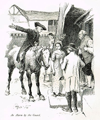 "Tristram's Coaching Ways - ""2 PRINTS - ALARM OF THE GUARD & SEEING THEM OFF"" - Lithograph - 1888"