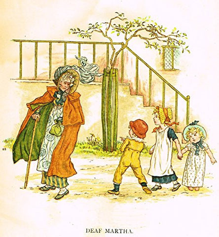 Kate Greenaway's Little Ann - DEAF MARTHA - Chromolithograph - 1883