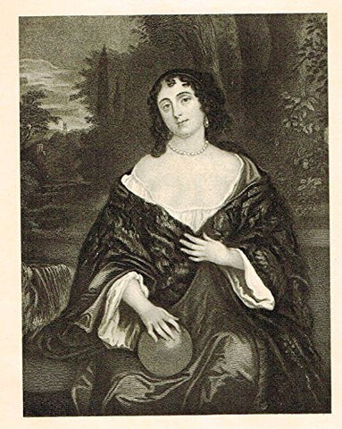Memoires of the Court of England - ELIZABETH BAGOT, COUNTESS OF DORSET - Photo-Etching - 1843