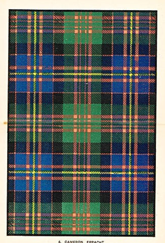 "Johnston's Scottish Tartans - ""CAMERON, ERRACHT"" - Chromolithograph - c1899"