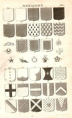 "HERALDRY from ""Nicholson's Cyclopedia"" 1819"
