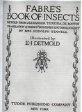 INSECTS by Detmold - 1921 - THE FIELD CRICKETS - Chromolithograph