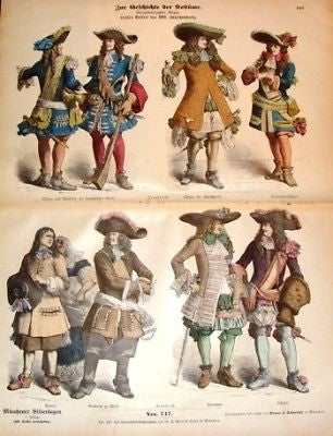 SANDTIQUE ANTIQUE COSTUME PRINT