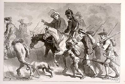 """Our Country"" by Lossing ""UPRISING OF YEOMANRY"" - 1877 - Sandtique-Rare-Prints and Maps"