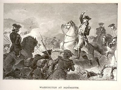 """Our Country"" by Lossing ""WASHINGTON AT MONMOUTH"" -1877 - Sandtique-Rare-Prints and Maps"