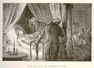 """Our Country"" by Lossing ""DEATH OF WASHINGTON"" -1877 - Sandtique-Rare-Prints and Maps"
