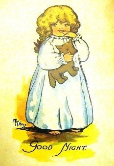 """Rag Animals A.B.C.""  by Hays - 1913 - ""GOOD NIGHT"" - Sandtique-Rare-Prints and Maps"