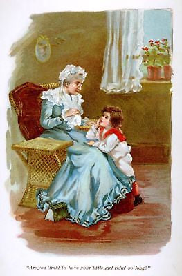 """Helen's Babies"" -1876- by Habberton ""GIRL WITH GRANNY"" - Sandtique-Rare-Prints and Maps"