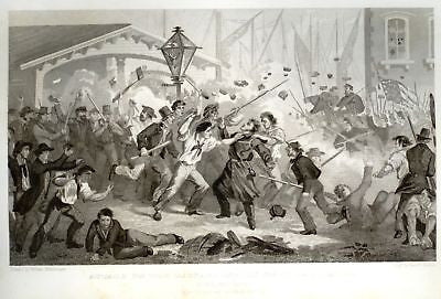 Abbott's Civil War -1865- ATTACK ON MASSACHUSETTES 6th - Sandtique-Rare-Prints and Maps