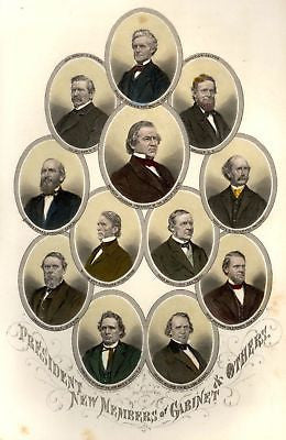 Abbott's Civil War -1865- PRESIDENT MEMBERS OF CABINET - Sandtique-Rare-Prints and Maps