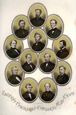 Abbott's Civil War -1865- UPHOLDERS IN CONGRESS - UNION - Sandtique-Rare-Prints and Maps