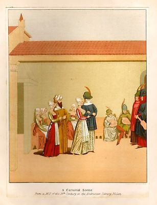 """CARNIVAL"" by Planche - 1876 - Cyclopedia of Costume"