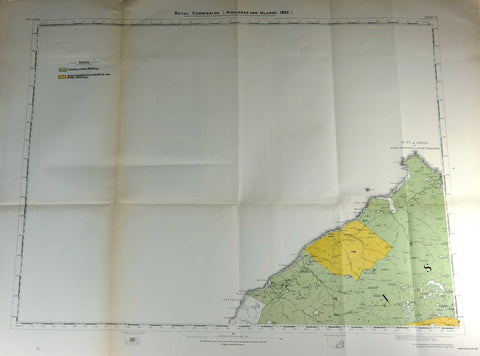 "Deer Forest Commission Map - Scotland - ""BUTT OF LEWIS - SHEET 111"" - Chromo - 1892"