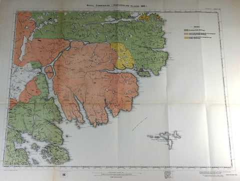 "Deer Forest Commission Map - Scotland - ""TABERT - SHEET 99"" - Chromo - 1892"