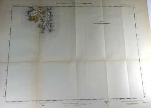 "Deer Forest Commission Map - Scotland - ""SUMBIRCH - SHEET 124"" - Chromo - 1892"