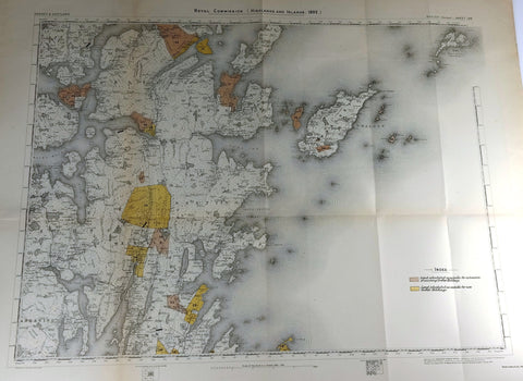 "Deer Forest Commission Map - Scotland - ""WHALSEY - SHEET 128"" - Chromo - 1892"