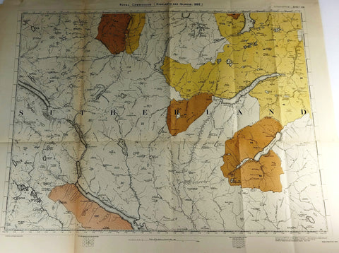 "Deer Forest Commission Map - ""ALTNAHARROW - SHEET 108"" - Chromolithograph - 1892"