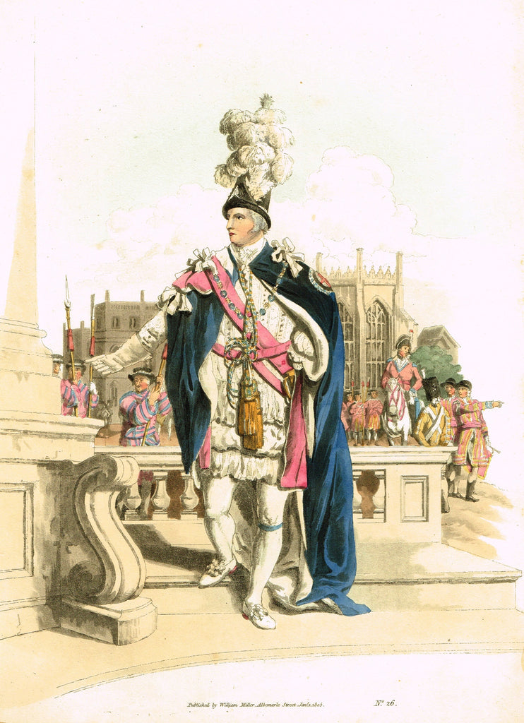 "Payne's ""COSTUMES OF GREAT BRITAIN, No. 26 - Fancy Man"" - Aquatint Engraving - 1805"
