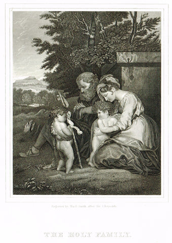 "Holy Bible published by Andrus - ""THE HOLY FAMILY"" - Steel Engraving - 1845"