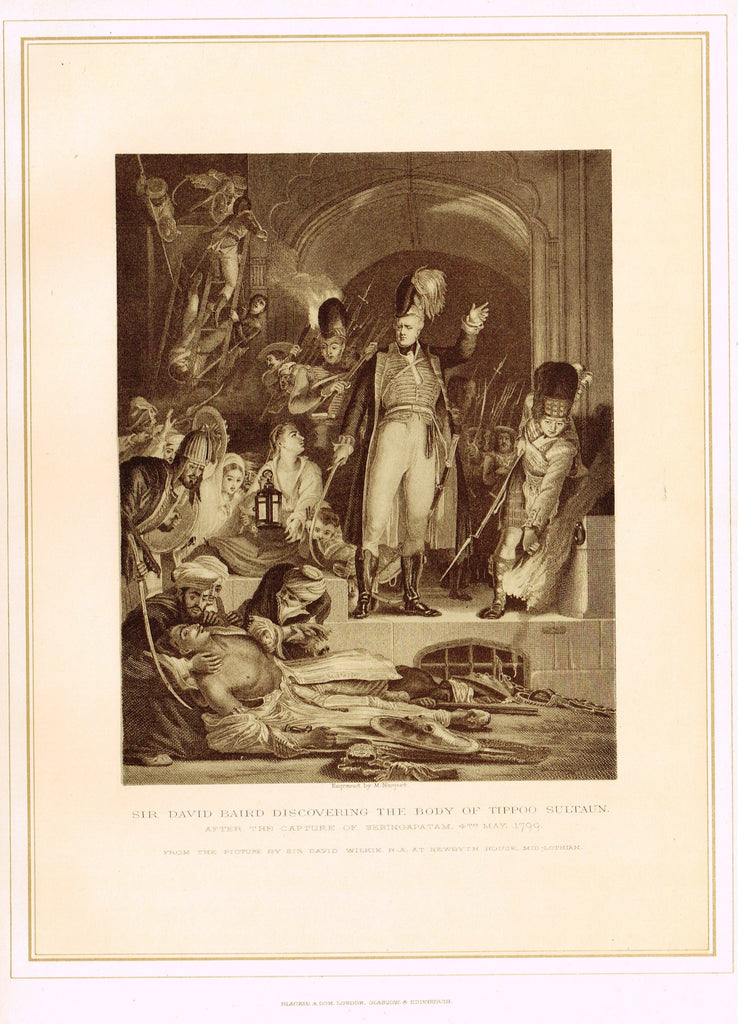 Archer's - SIR DAVID BAIRD DISCOVERING THE BODY OF TIPPOO SULTAN - Tinted Litho - 1880