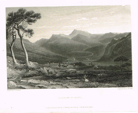 "Finden's Country Scene - ""LACHIN - Y - GAIR"" - Steel Engraving - c1833"