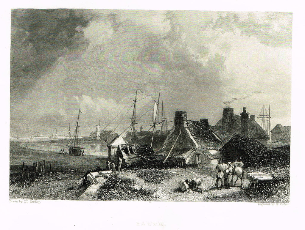 "Finden's Country Scene - ""BLYTH"" - Steel Engraving - c1833"