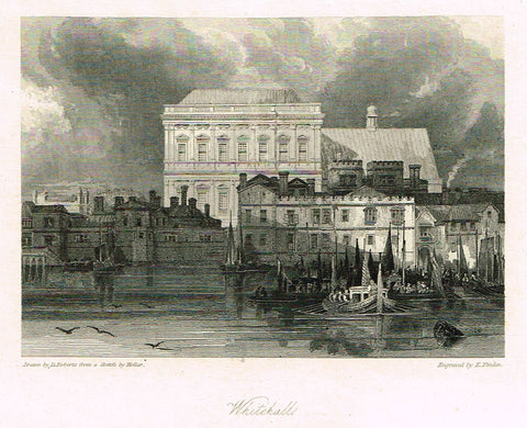 "Finden's ""WHITEHALL"" - Steel Engraving - c1833"