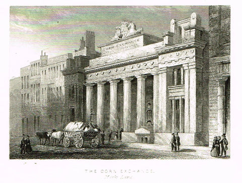 "Misc. Miniature Scenes - ""THE CORN EXCHANGE, MARK LANE"" - Engraving - c1850"