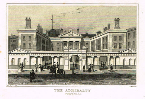 "Dugdale's Miniatures - ""THE ADMIRALTY"" - Engraving - c1830"
