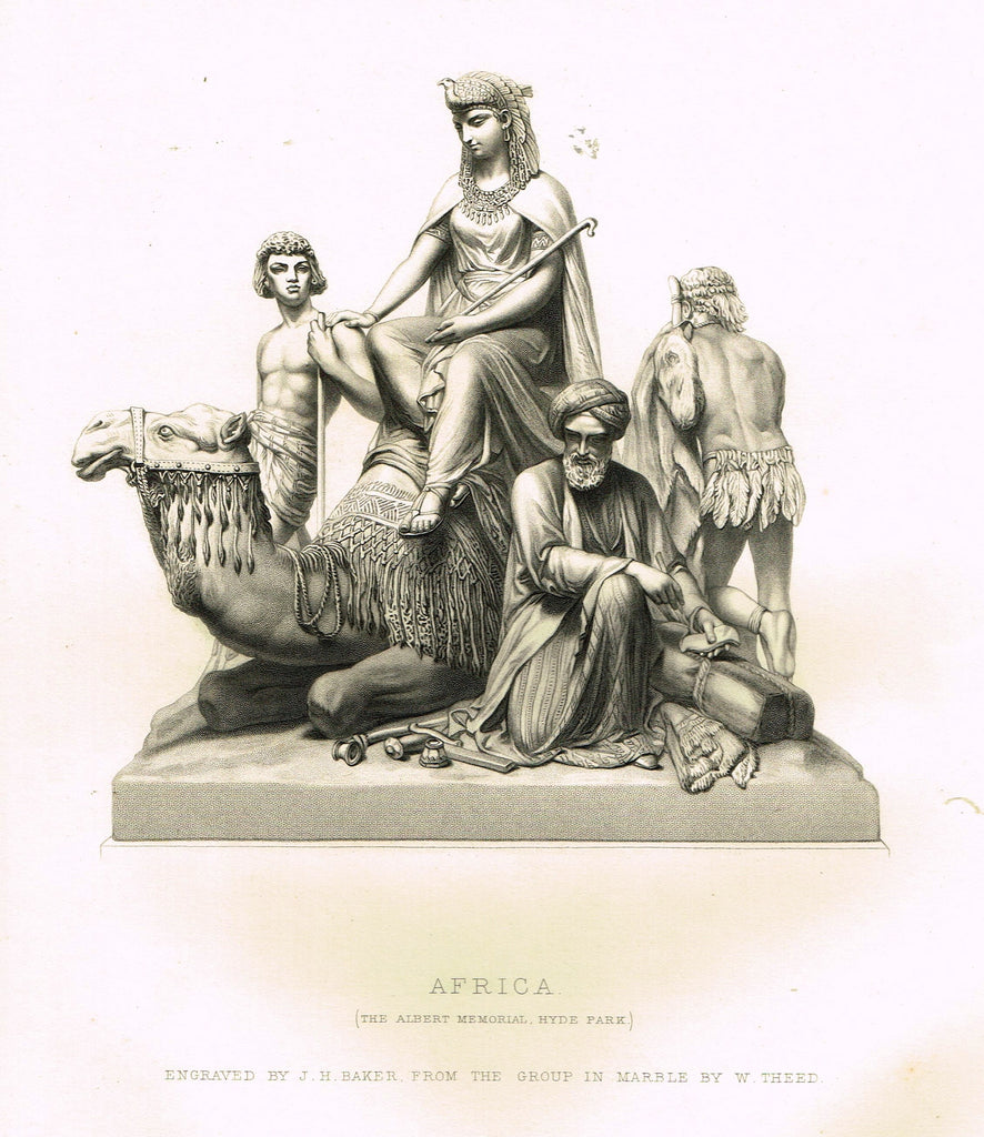 "Art Journal's ""AFRICA"" Steel Engraving by J.H. Baker - 1871"