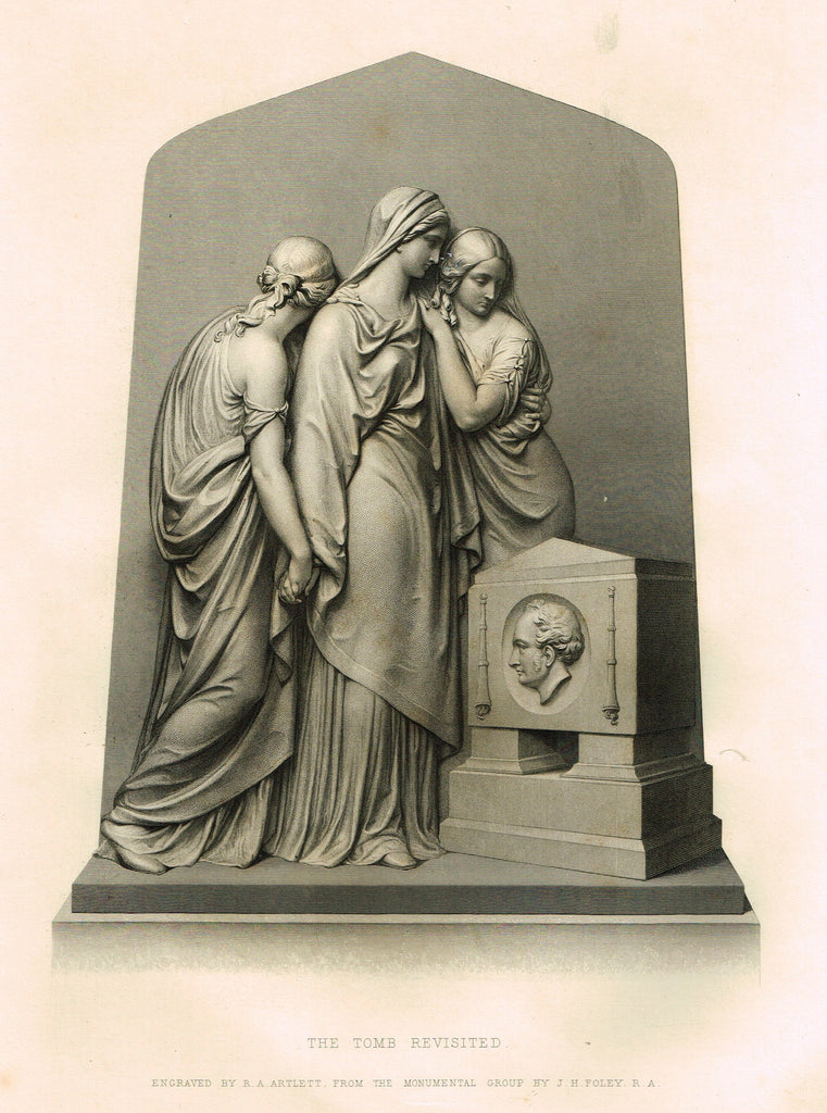 "Art Journal's ""THE TOMB REVISITED"" - Steel Engraving by R.A. Artlett - 1871"