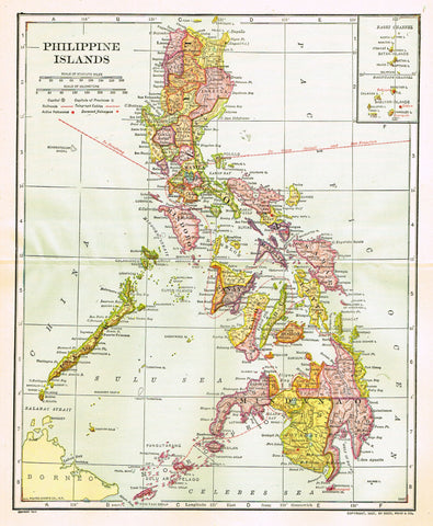 "Dodd Mead's Universal Atlas - ""PHILIPPINE ISLANDS"" - Chromolithograph - 1906"