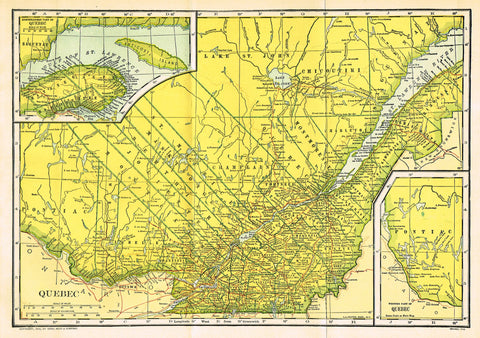 "Dodd Mead's Universal Atlas - ""QUEBEC"" - Chromolithograph - 1906"